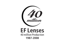 Canon 40 Million EF Lenses Commemorative logo