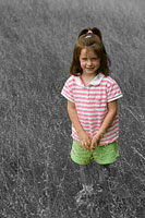 Girl in Field Picture