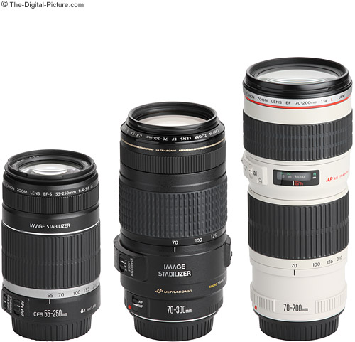 Canon EF 70-300mm f/4-5.6 IS USM Lens Compared to Similar Telephoto Zoom Lenses