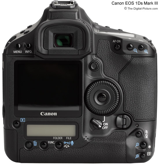 Canon EOS 1Ds Mark III Rear View Comparison