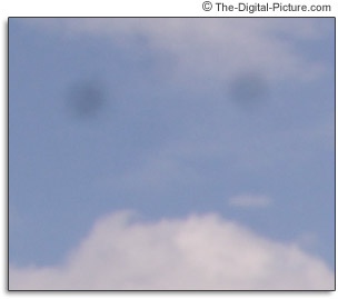 Digital SLR Camera Sensor Dust Sample Picture - 100% Crop Sample