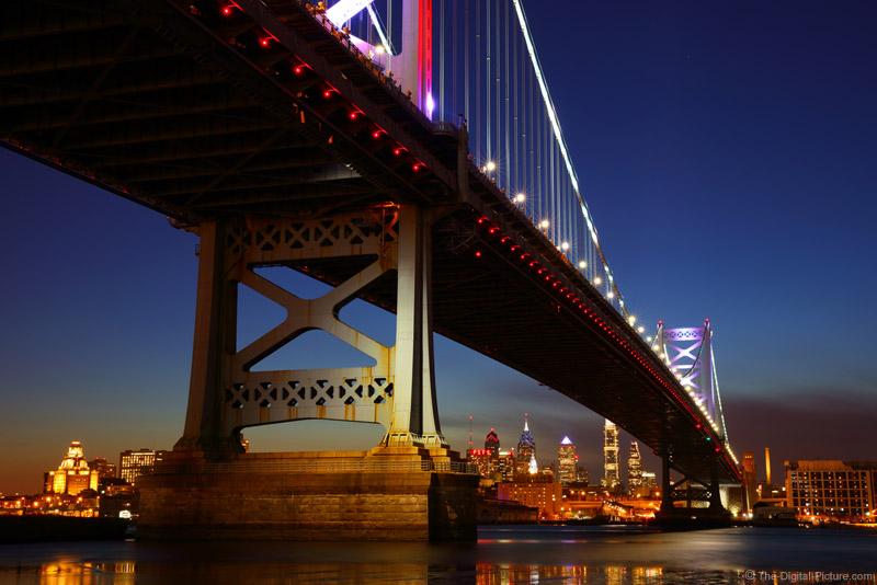 Ben Franklin Bridge As Seen From Camden Nj