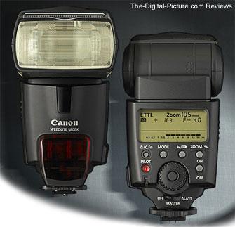Comparison: Canon Speedlite 430EX II vs. Canon Speedlite 580EX II ...